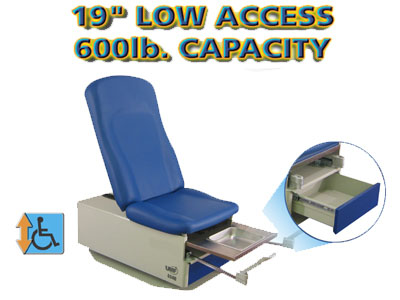 Power Hi-Lo &Power Back Exam Table (Std Prem.Top) Low access 19