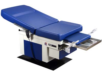 Power Hi-Lo &Power Back Exam Table (Std.prem.Top), Height 400 Ib capacity 2 Function hand control