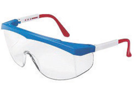 Crews� SS130 Stratos� Safety Glasses With Blue Nylon Frame And Clear Polycarbonate Duramass� Anti-Scratch Lens