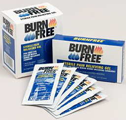 Burn Free Pain Relieving Gel Single Dose Packets 1/ gram- 20 dispenser /box